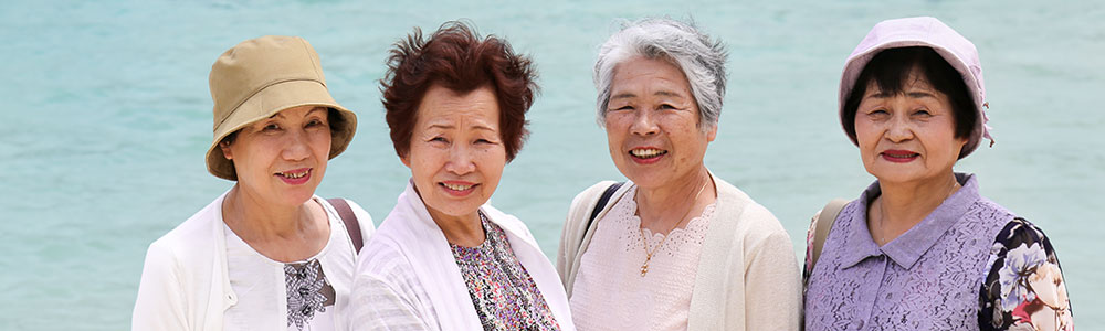 elderly asian ladies