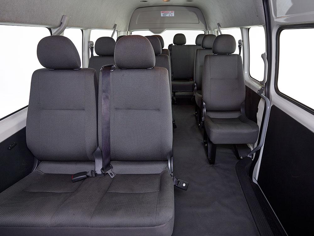 12 seater interior
