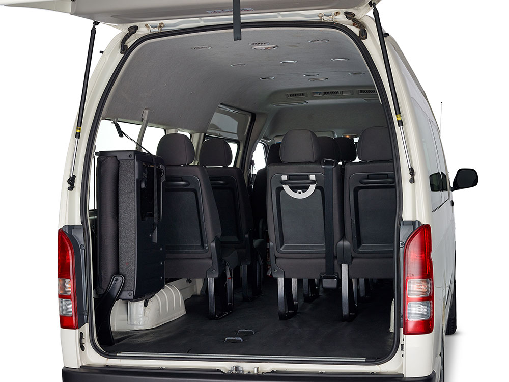 12 seater rear seats up