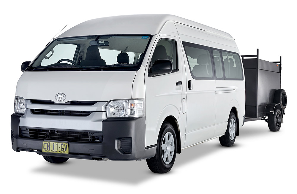 12 seater with trailer